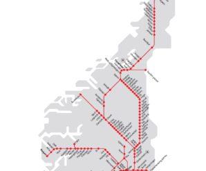 Mappe dei mezzi pubblici di Oslo e Norvegia
