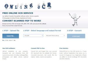 Convertire immagini in testo - freeocr
