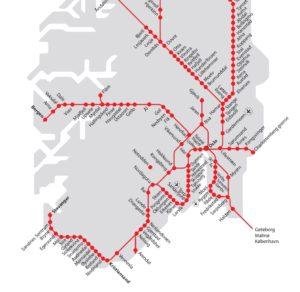 Linee treno periferia di Oslo