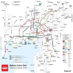 Dettaglio linee del bus Oslo Centro
