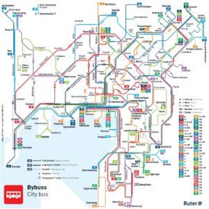 Linee principali Bus di Oslo