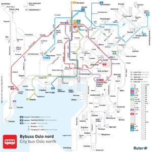 Dettaglio linee del bus Oslo Nord
