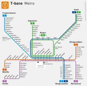 Linee metropolitana Oslo