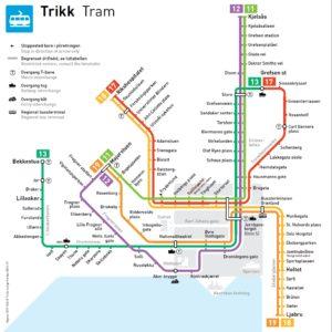 Linee principali Tram di Oslo