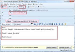 Esempio di e-mail