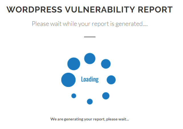 Loading vulnerability report