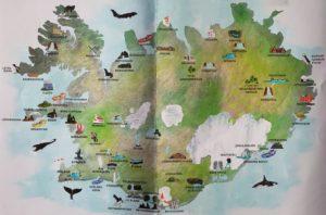 mappa attrazioni islanda
