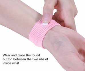 Anti-nausea wristbands – against car sickness and bus sickness (motion sickness)