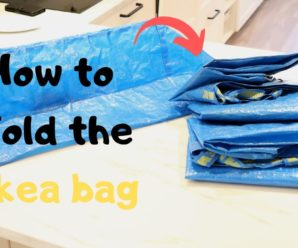 Practical example of how to fold the IKEA bag