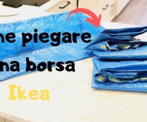 Esempio pratico di come piegare la borsa dell'IKEA