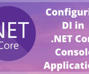 .net core 5 console application con DI e best practice Microsoft